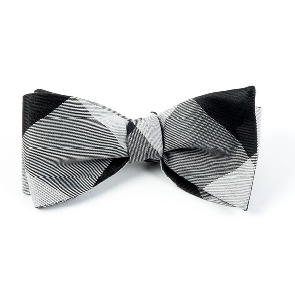 Black Bison Plaid Bow Tie