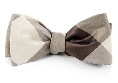 Bow Ties - Bison Plaid - Browns