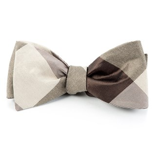 Bison Plaid Browns Bow Tie