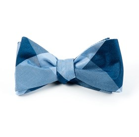 Blues Bison Plaid bow ties