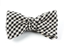 Bow Ties - FALL GINGHAM - BLACK