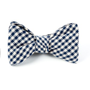 fall gingham navy bow ties