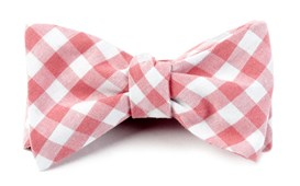 Bow Ties - FALL COLORFUL PLAID - STRAWBERRY