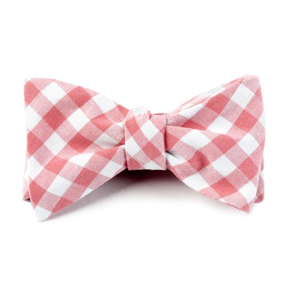 Strawberry Fall Colorful Plaid Bow Tie