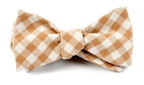 Bow Ties - FALL COLORFUL PLAID - CHAMPAGNE