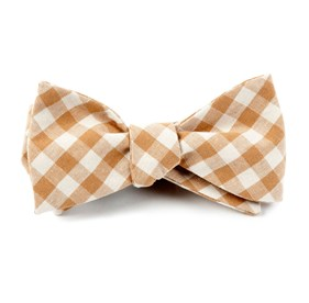 Champagne Fall Colorful Plaid bow ties