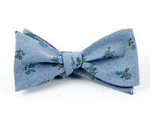 Bow Ties - CALICO CHAMBRAY - SOFT BLUE