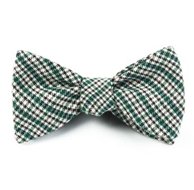 Green Rambling Plaid bow ties