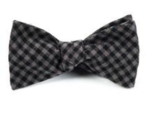BOW TIES - METRIC PLAID - CHARCOAL