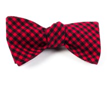 BOW TIES - METRIC PLAID - RED