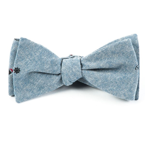Washed Blue Mainsail Chambray Bow Tie