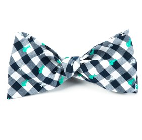 Green Swimmer Gingham bow ties