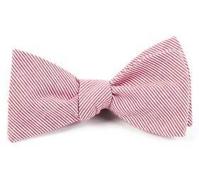 Red Little Stripe bow ties