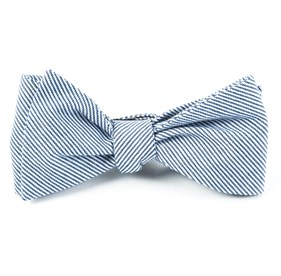Blue Little Stripe bow ties