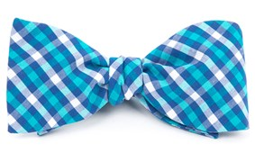Bow Ties - SOUND PLAID - Turquoise