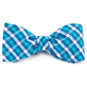 Turquoise Sound Plaid bow ties