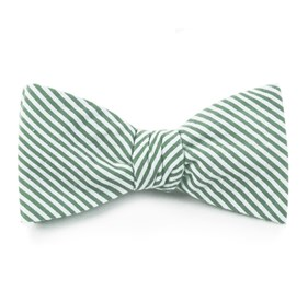 Hunter Green Seersucker bow ties