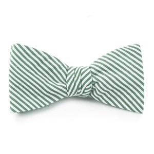 seersucker hunter green bow ties