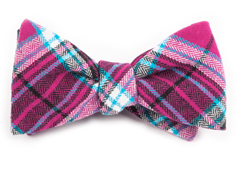 Bow Ties - VICE PLAID - Fuchsia