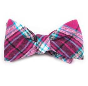 Fuchsia Vice Plaid bow ties