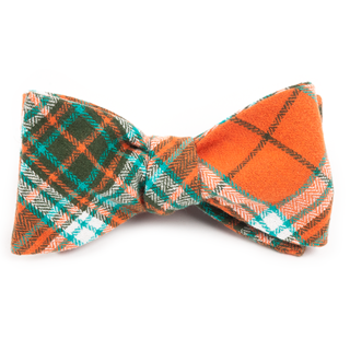 vice plaid orange bow ties