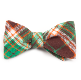 Vice Plaid Chocolate Brown Bow Ties