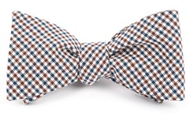 Bow Ties - GULF SHORE GINGHAM - Brown
