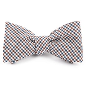 Brown Gulf Shore Gingham bow ties