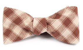 Bow Ties - PORT STREET CHECKS - Chocolate Brown