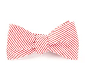 Jackson Stripe Red Bow Ties