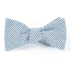 Navy Jackson Stripe bow ties