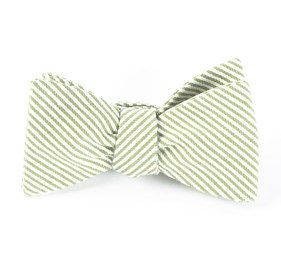 Jackson Stripe Clover Green Bow Ties