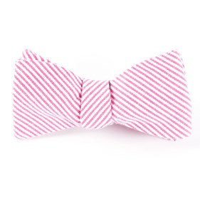 Jackson Stripe Hot Pink Bow Ties