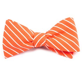 Montgomery Stripe Melon Bow Ties