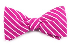 BOW TIES - MONTGOMERY STRIPE - RASPBERRY