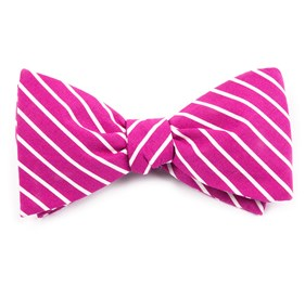 Raspberry Montgomery Stripe bow ties