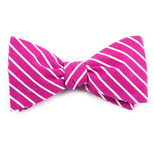 montgomery stripe raspberry bow ties