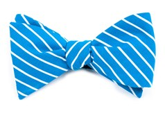 BOW TIES - MONTGOMERY STRIPE - SERENE BLUE