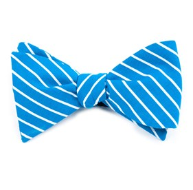 Montgomery Stripe Serene Blue Bow Ties