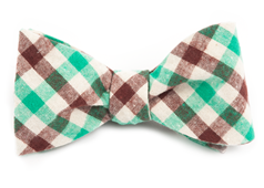 Bow Ties - SALOON PLAID - Kelly Green