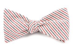 BOW TIES - SCHOLAR STRIPE - SOFT NAVY