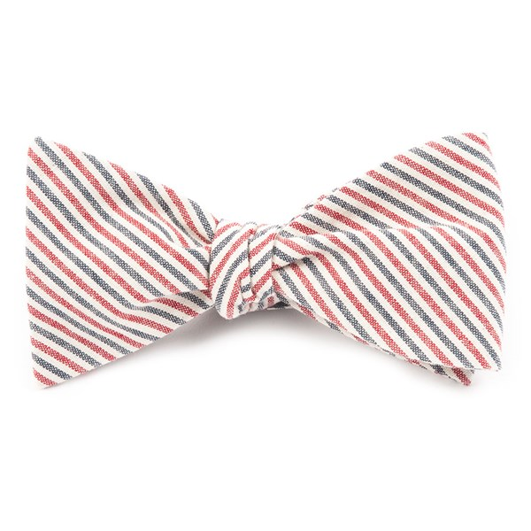 Soft Navy Scholar Stripe Bow Tie