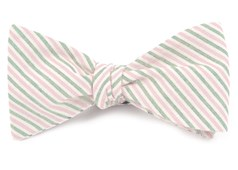 BOW TIES - SCHOLAR STRIPE - PINK