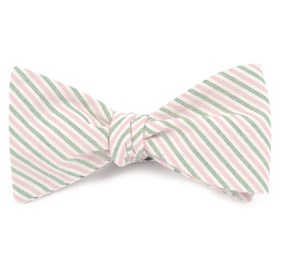 Pink Scholar Stripe bow ties
