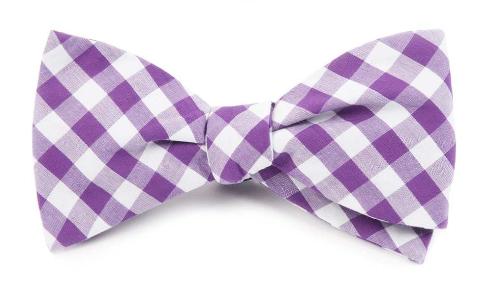 Purple classic gingham bow tie ties bow ties and pocket squares purple classic gingham bow tie ccuart Image collections