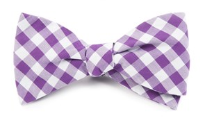 BOW TIES - CLASSIC GINGHAM - PURPLE
