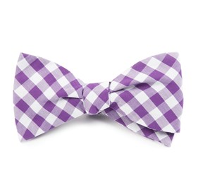 Purple Classic Gingham bow ties