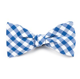 Royal Blue Classic Gingham bow ties