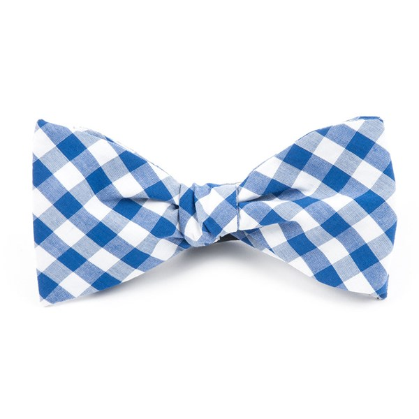 Royal Blue Classic Gingham Bow Tie