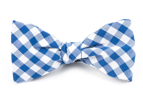 Classic Gingham Royal Blue Bow Tie